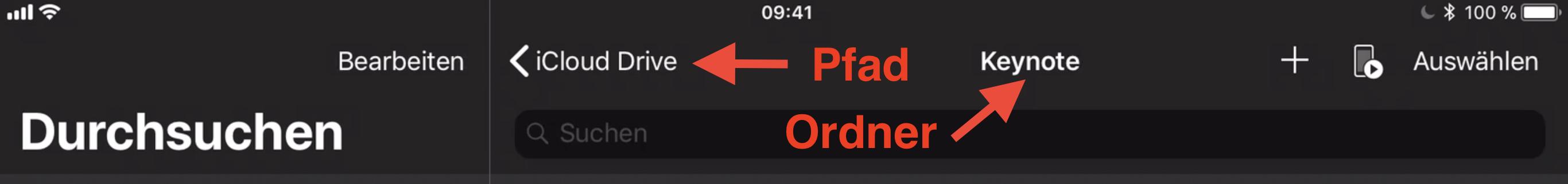 Pfad – Ordner